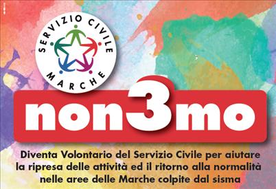 """Progetto """"non3mo"""": disponibile graduatoria volontari presso Comune di Fabriano"""