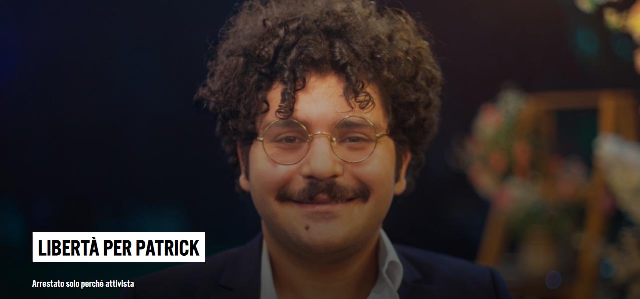Appello per Patrick Zaki: iniziativa a favore della liberazione