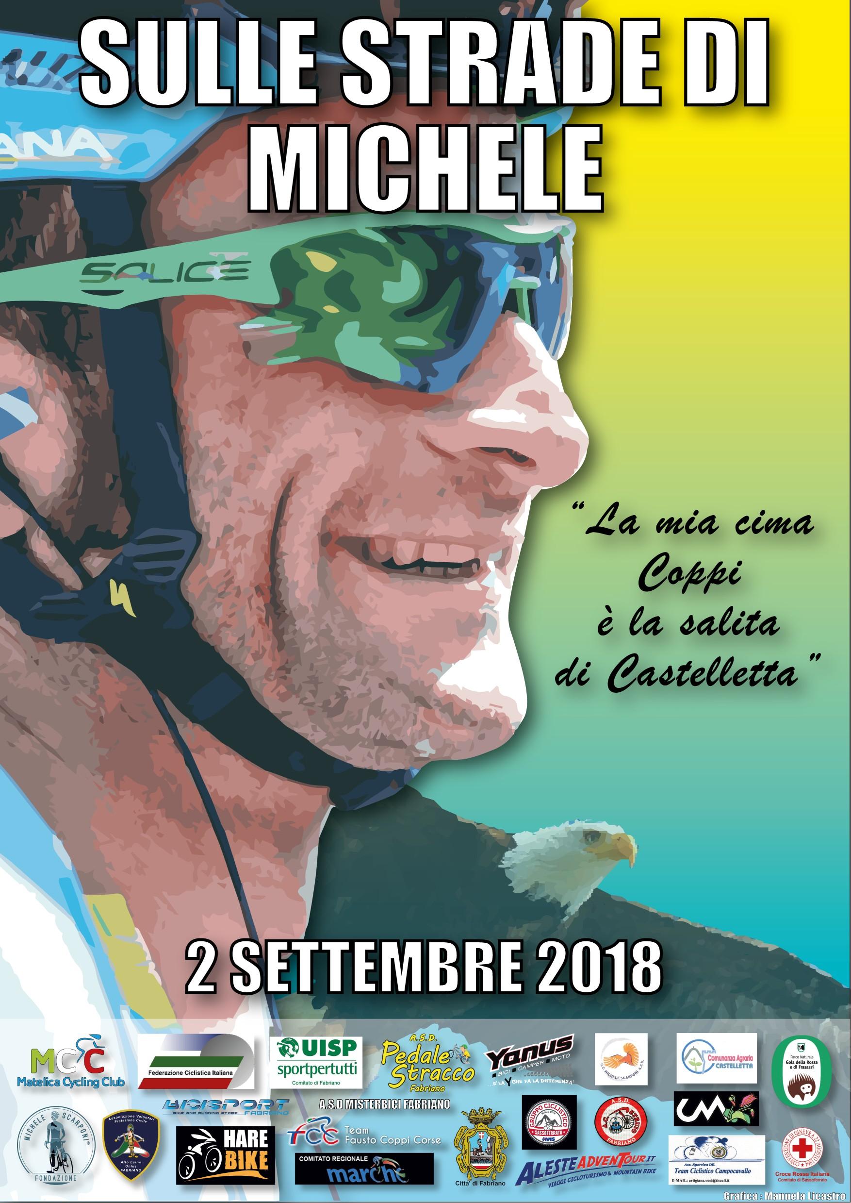 """""""Sulle strade di Michele"""" 2 settembre giornata dedicata a Michele Scarponi"""
