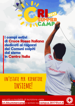 CRI Summer Camp 2017: i campi estivi dedicati ai ragazzi dei Comuni colpiti dal sisma