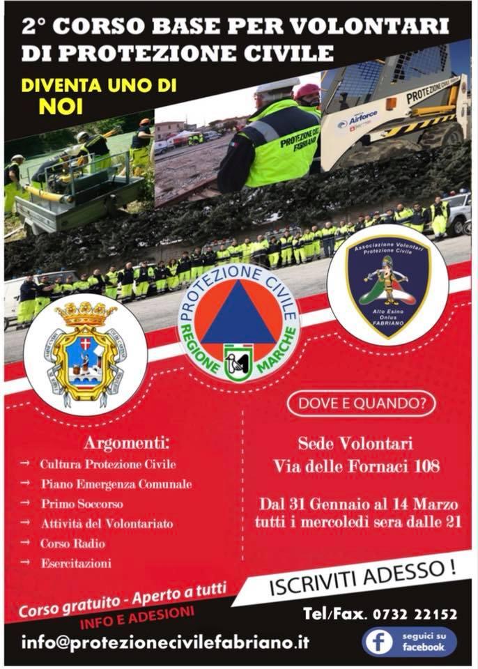 2° Corso base per volontari di protezione civile