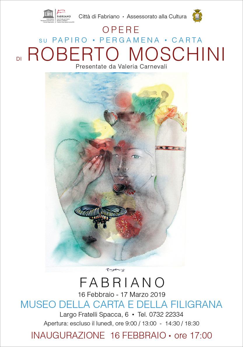 OPERE SU PAPIRO - PERGAMENA - CARTA DI ROBERTO MOSCHINO  16.02 - 17.03