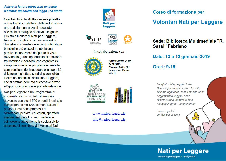 Corso di formazione per Volontari Nati per Leggere