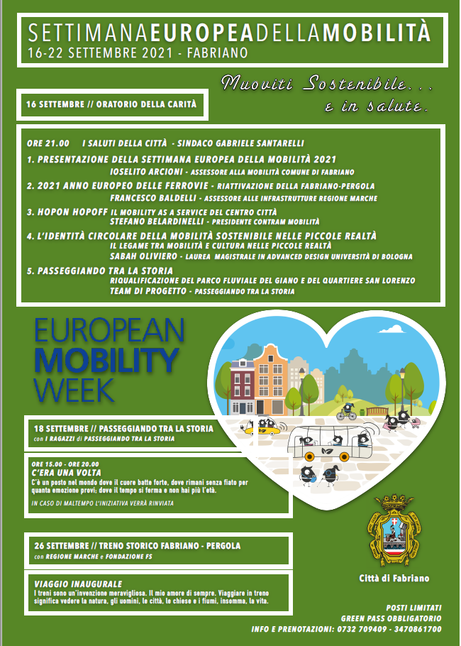SETTIMANA EUROPEA DELLA MOBILITA' : gli appuntamenti in prgramma