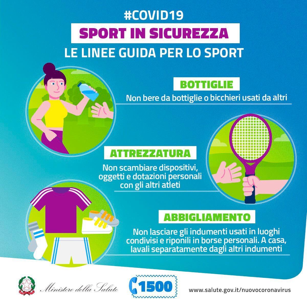 Le linee guida per lo sport del Ministero della Salute